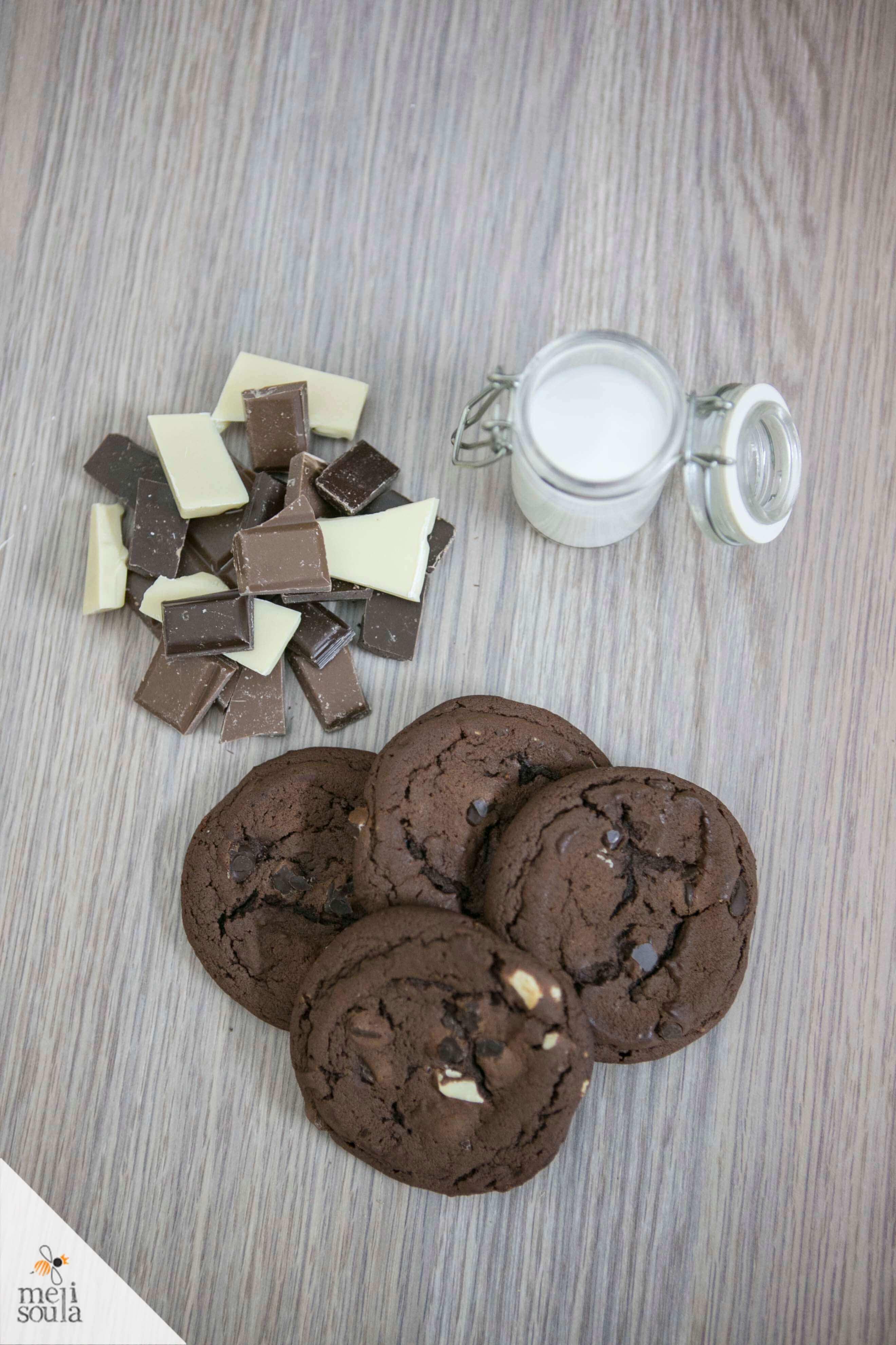 soft cookies me treis sokolaes