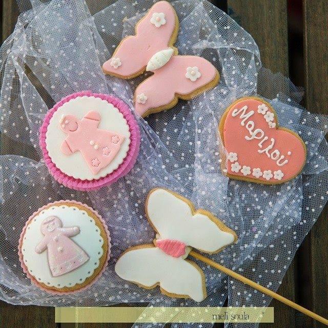 candybar Mπισκότα με ζαχαρόπαστα για γάμο-βάφτιση