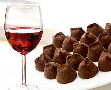 Κρασί και σοκολάτα