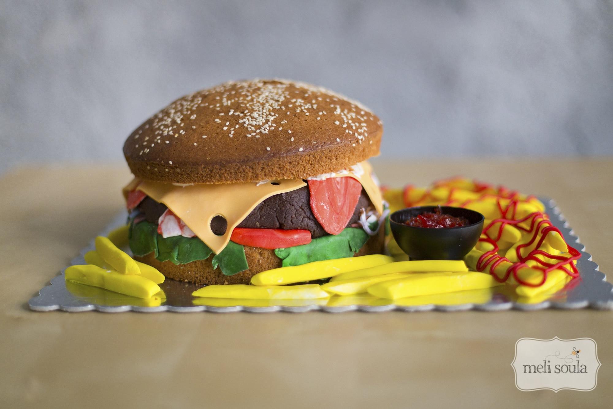Τρισδιάστατη τούρτα χαμπουργκερ