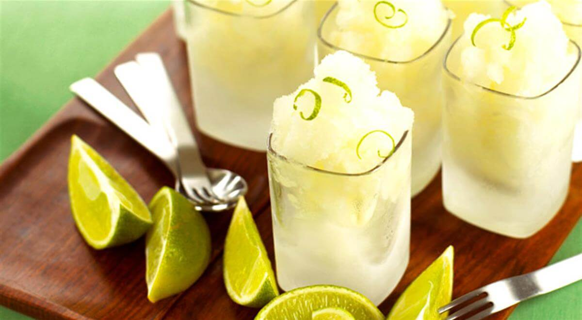 Γρανίτα με lime και πεπόνι