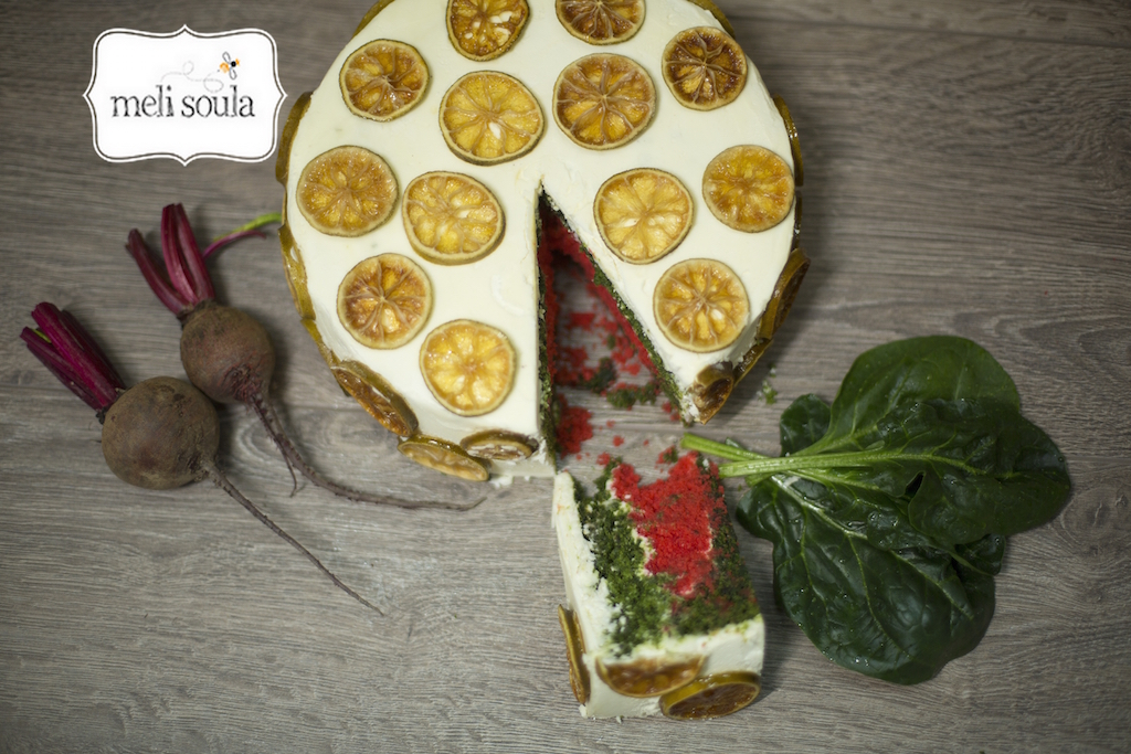 spinachbeetroot-cake