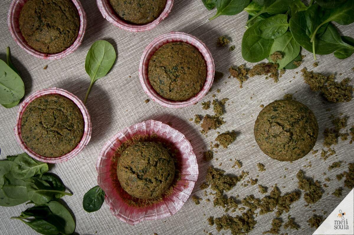 muffin από σπανάκι